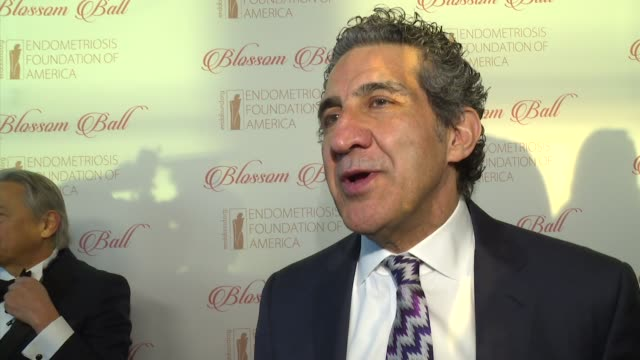 stockvideo's en b-roll-footage met interview dr farr nezhat talks about the complications that come with the disease at 8th annual blossom ball to benefit the endometriosis foundation... - chelsea piers