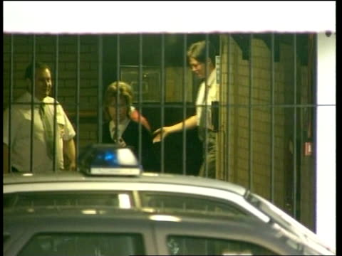 charged with two more murders deen sue england manchester tameside magistrates court dr harold shipman from door with guards to prison van as ducks... - 脱獄する点の映像素材/bロール