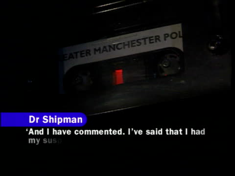 dr harold shipman found guilty gv police station ms 'police' sign on lamp cs greater manchester police recording of interrogation of shipman sot with... - interrogation stock videos and b-roll footage