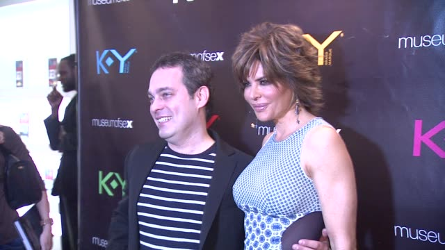 dr ian kerner and lisa rinna at ky brand celebrates the launch of the big fun sexy sex book with coauthors lisa rinna and dr ian kerner at the museum... - lisa rinna stock videos and b-roll footage