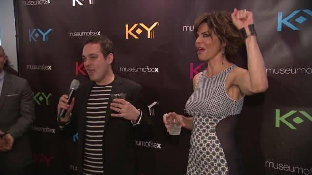 dr ian kerner talks about ky and the museum of sex at ky brand celebrates the launch of the big fun sexy sex book with coauthors lisa rinna and dr... - lisa rinna stock videos and b-roll footage