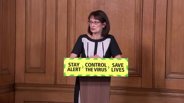 dr jenny harries saying the easing of coronavirus lockdown rules means people should look at what is sensible to do rather than what is possible to do - serious stock videos & royalty-free footage