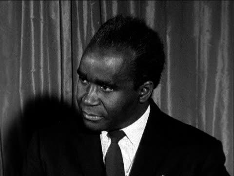 dr kenneth kaunda prime minister of zambia england london dorchester hotel - kenneth kaunda stock videos & royalty-free footage