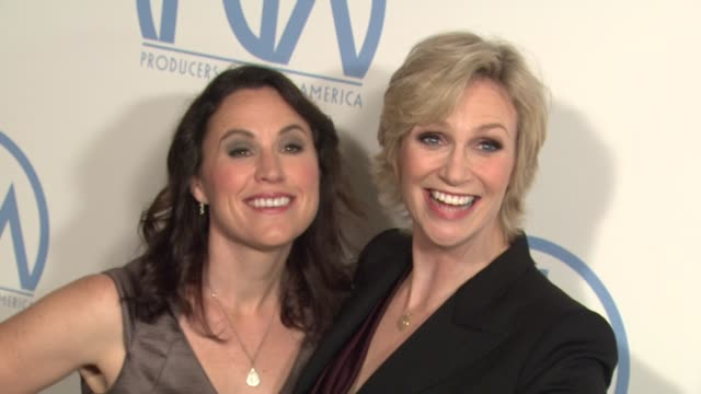 dr lara embry jane lynch at the 2011 producers guild awards at beverly hills ca - jane lynch stock videos and b-roll footage