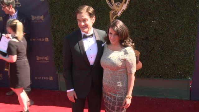 Dr Mehmet Oz and Lisa Oz at the 44th Annual Daytime Emmy Awards at Pasadena Civic Auditorium on April 30 2017 in Pasadena California