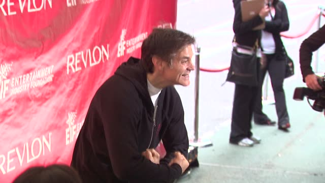 dr mehmet oz at the 14th annual entertainment industry foundation revlon run/walk for women at new york ny - revlon stock videos and b-roll footage