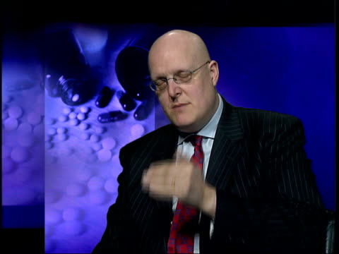 dr mike isaac interviewed sot - discusses minority of cases where anti-depressants are needed - anti depressant stock videos & royalty-free footage