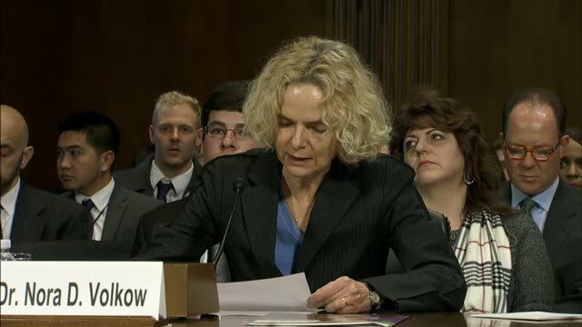 stockvideo's en b-roll-footage met dr nora volkow director of the national institute on drug abuse tells the senate judiciary committee that in her view acute chronic pain leads to... - drug abuse