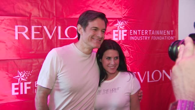 dr oz and lisa oz at the 13th annual eif revlon run/walk for women at new york ny - revlon stock videos and b-roll footage