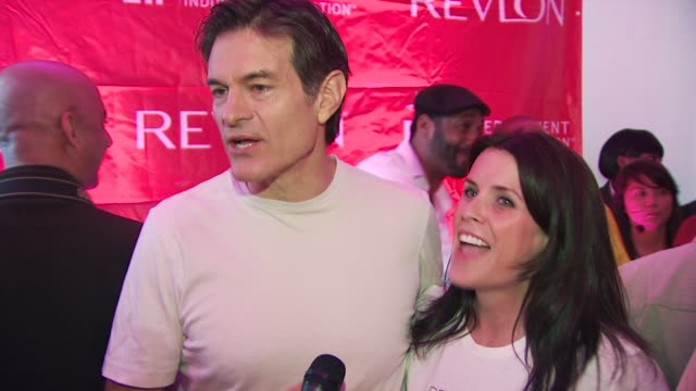 dr oz and talks about how important it is to have revlon involved in the cause at the 13th annual eif revlon run/walk for women at new york ny - revlon stock videos and b-roll footage