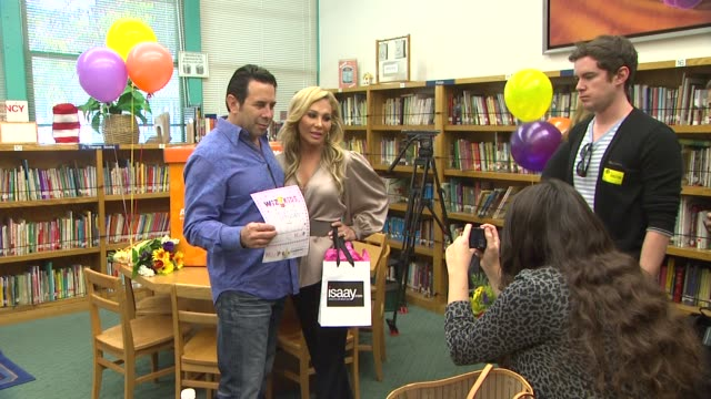 dr paul nassif adrienne maloof at the officemax's 'a day made better' school advocacy campaign with adrienne maloof and dr paul nassif at sherman... - sherman oaks stock videos & royalty-free footage