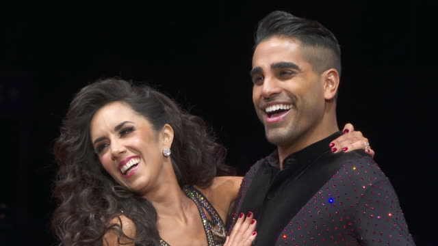 dr ranj janette manrara atstrictly come dancing live tour photocall at arena birmingham on january 17 2019 in birmingham england - photo call stock videos & royalty-free footage