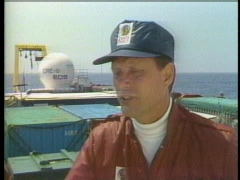 vídeos y material grabado en eventos de stock de dr. robert ballard of the jason project says that the deep sea preserves history. - lecho del mar