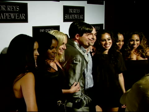 dr robert rey and bruno schiavi with the bombshell babies at the dr robert rey and bruno schiavi celebrate shapewear launch hosted by carmen electra... - carmen electra stock videos and b-roll footage