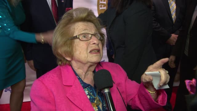 interview dr ruth westheimer talks about growing up in nazi germany at federal enforcement homeland security foundation ridge awards at sheraton... - drittes reich stock-videos und b-roll-filmmaterial