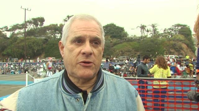dr stuart siegel on the event at the 24th annual nautica malibu triathlon at malibu ca - nautica malibu triathlon stock videos & royalty-free footage