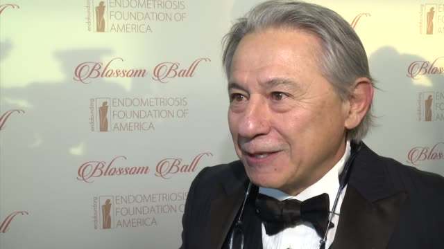stockvideo's en b-roll-footage met interview dr tamer seckin talks about the importance of celebrities getting involved with this cause at 8th annual blossom ball to benefit the... - chelsea piers