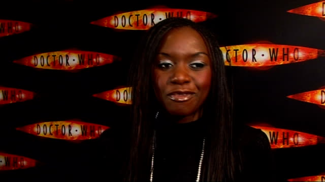 Dr Who Christmas Special interviews Velile Tshabalala interview SOT On how she got the part in the 'Dr Who' Christmas special / Nervous on first day...