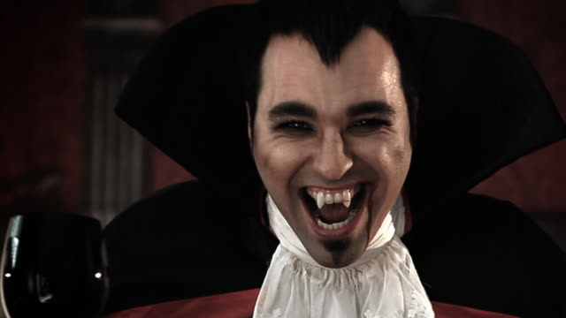 dracula vampire laugh - traditional clothing stock videos & royalty-free footage