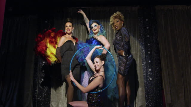 Drag artists performing