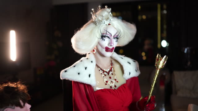 drag queen in costume - drag queen stock videos and b-roll footage