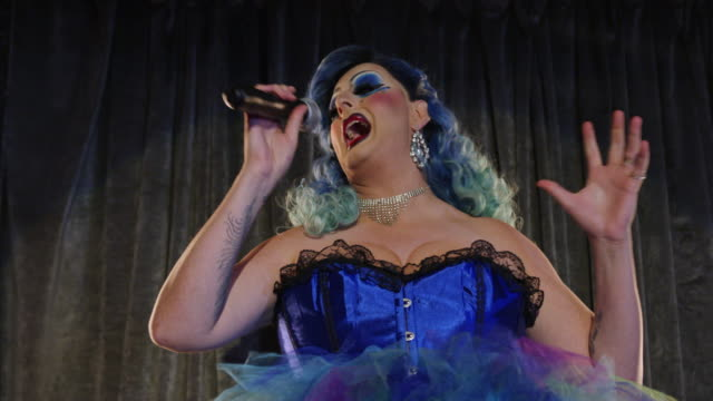 drag queen performer on stage - genderblend stock videos & royalty-free footage