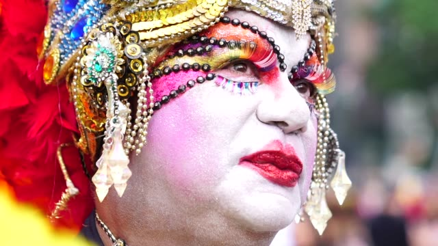 drag queen portrait - drag queen stock videos and b-roll footage