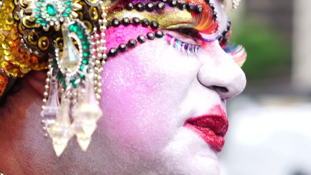 drag queen portrait - intersex stock videos and b-roll footage