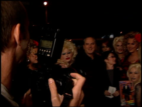 drag queens at the 'ringmaster' premiere with jerry springer at the cinerama dome at arclight cinemas in hollywood, california on november 12, 1998. - ringmaster stock videos & royalty-free footage
