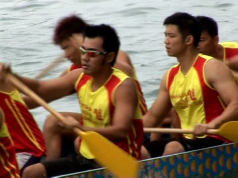 dragon boat races are a highlight of one of hong kong's biggest festivals. hong kong, hong kong. - biggest stock videos & royalty-free footage