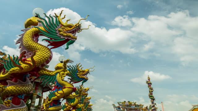 chinesische drachen - statue stock-videos und b-roll-filmmaterial