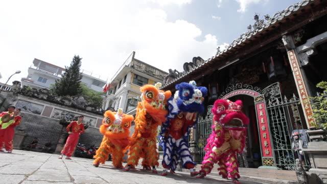Dragon dancers perform in Ho Chi Minh City, Vietnam