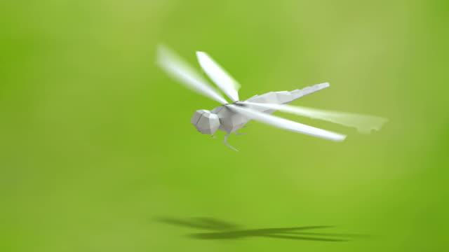 vidéos et rushes de libellule à papier - origami