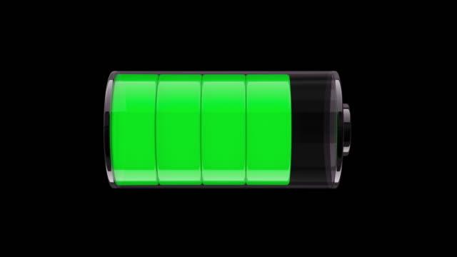 vídeos de stock e filmes b-roll de ms draining the battery. 3d animation - baixo