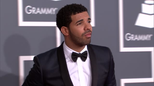 drake at the 55th annual grammy awards arrivals 2/10/2013 in los angeles ca - grammys stock videos & royalty-free footage