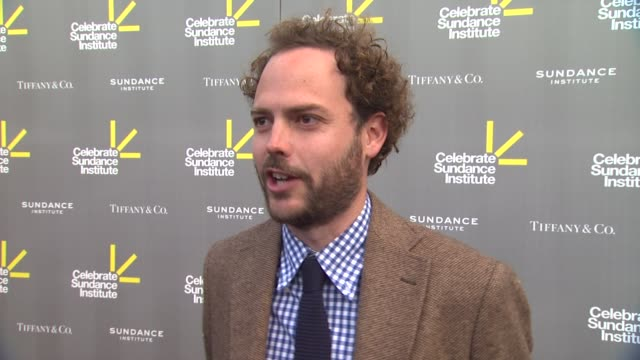 interview drake doremus on roger ebert on ryan coogler receiving the vanguard award on his upcoming projects at 3rd annual 'celebrate sundance... - ryan coogler stock videos and b-roll footage