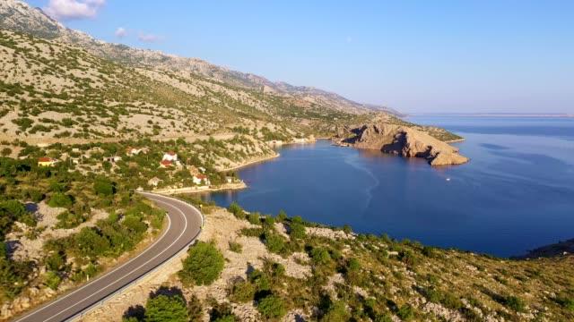 dramatic aerial footage of the dalmatia coast along the adriatic sea in croatia - adriatic sea stock videos & royalty-free footage