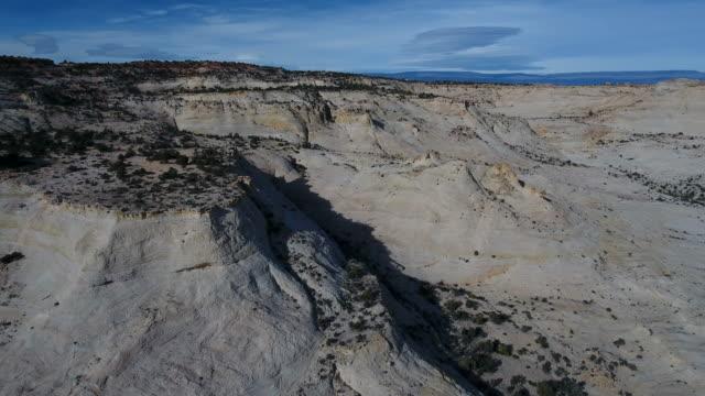 a dramatic aerial view of escalante, utah, usa - escalante stock-videos und b-roll-filmmaterial