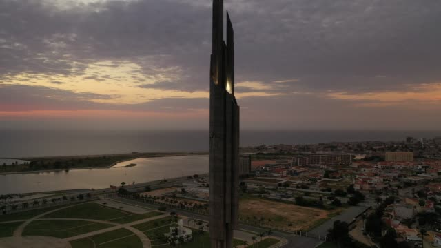 dramatic aerials views from luanda by sunset - contrasts stock videos & royalty-free footage