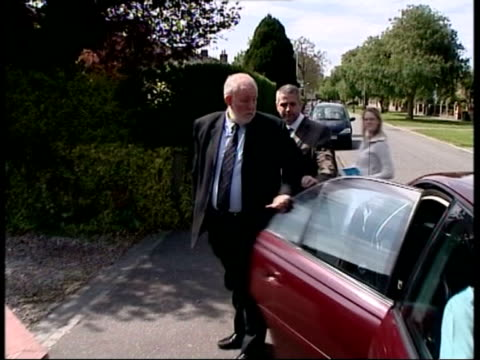 dramatic cabinet reshuffle after local election losses; date unknown: ???: slow motion charles clarke mp out of car and into house - charles clarke uk politician stock videos & royalty-free footage