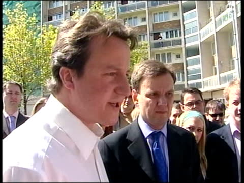 dramatic cabinet reshuffle after local election losses hammersmith ext david cameron mp wearing shirtsleeves adn no tie posing for celebratory... - replacement stock videos & royalty-free footage