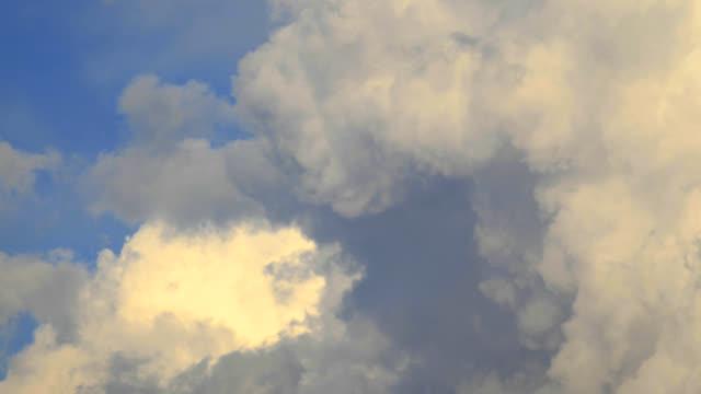 Dramatic Cumulus storm clouds form