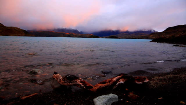 Dramatic dawn in Torres del Paine, Chile.