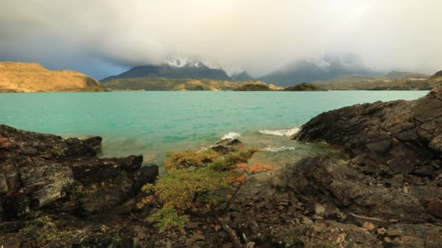 dramatic dawn in torres del paine, chile - chile stock videos and b-roll footage