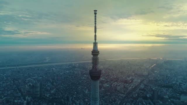 東京の街並みの劇的な夜明け - dawn点の映像素材/bロール