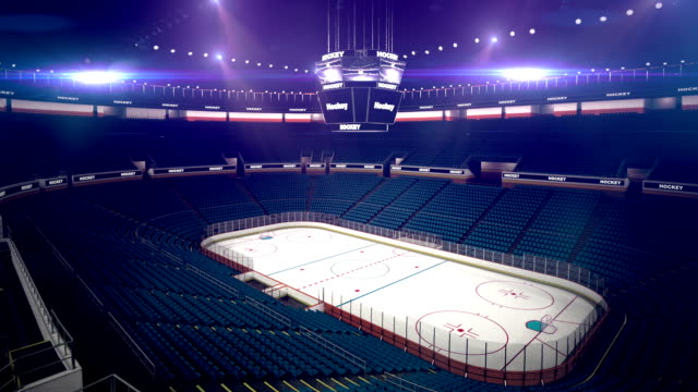 stockvideo's en b-roll-footage met dramatic hockey arena - stadion