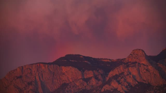 dramatic mountain sunset time lapse in 4k - new mexico stock videos & royalty-free footage