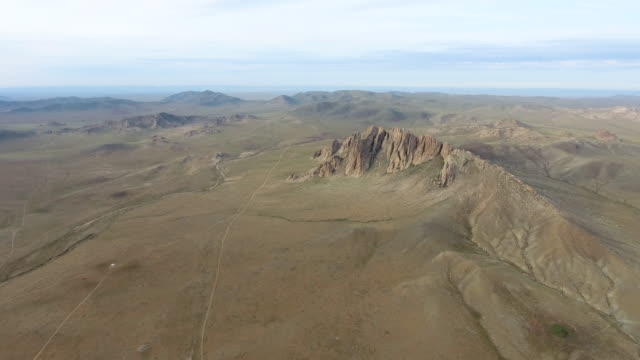 Dramatic mountainous landscape of Outer Mongolia's Gobi Desert