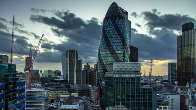 Dramatic Skies Over The City of London - Timelapse