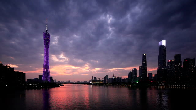 dramatic sky at dusk - guangzhou stock videos & royalty-free footage